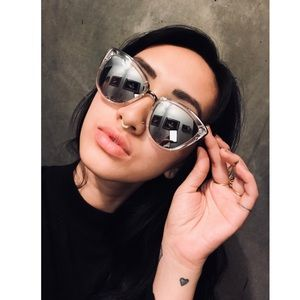 Quay my girl reflective mirror sunglasses clear